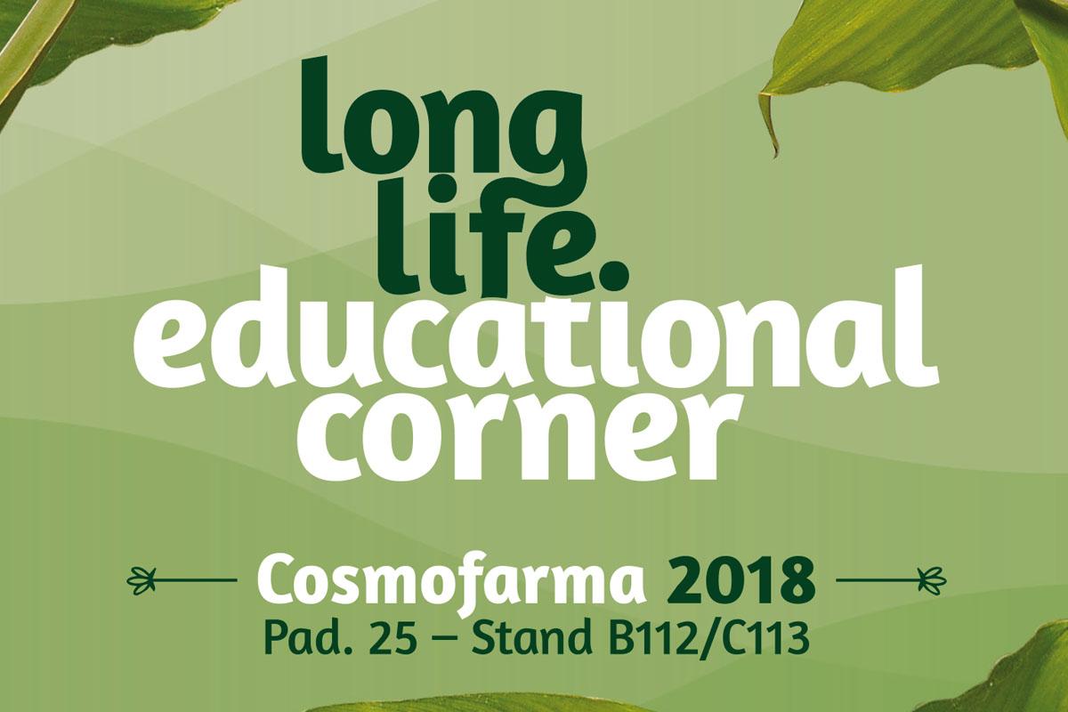 LongLife Educational Corner - Speciale Cosmofarma 2018